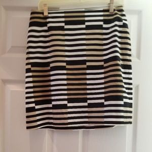Ann Taylor Striped Skirt